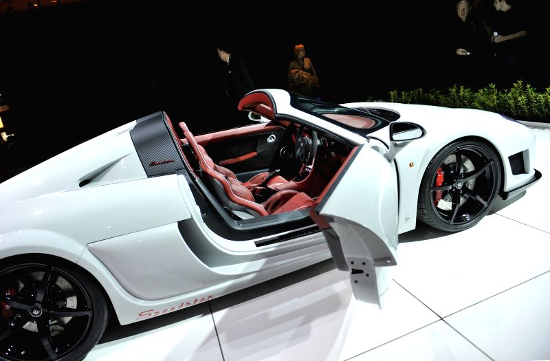 Photo taken on Jan. 23, 2015 shows a NOBLE Speedster 600 at Brussels Motor Show in Brussels, Belgium.