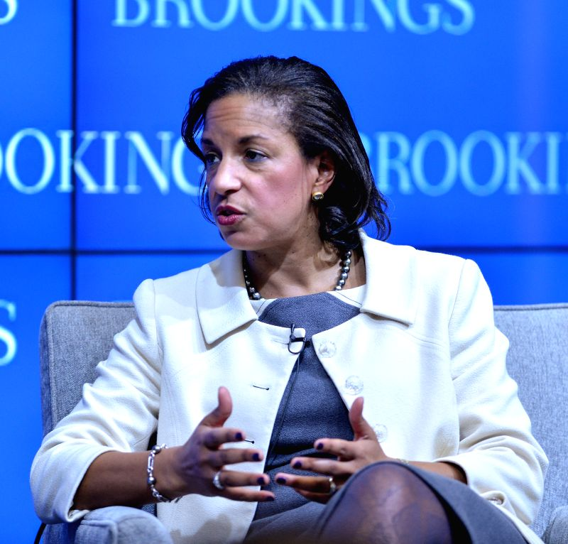 U.S. National Security Aadviser Susan Rice speaks at the Brookings Institution in Washington D.C., capital of the United States, Feb. 6, 2015. ...