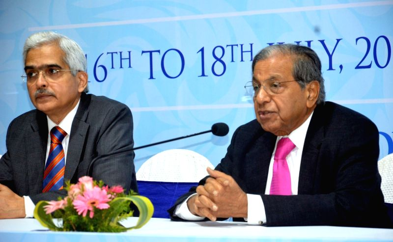 15th Finance Commission Chairman N.K. Singh addresses a press conference, in Kolkata on July 17, 2018. - K. Singh