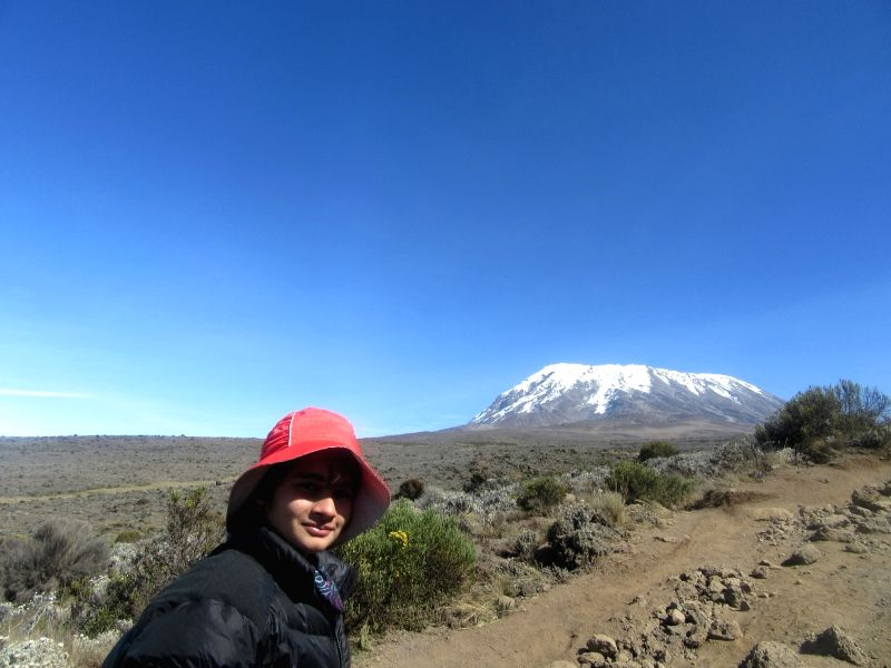 17-year-old girl Shivangi Pathak Scales Mount Kilimanjaro Africa's highest point and tallest free-standing mountain in the world, in Tanzania, Africa.