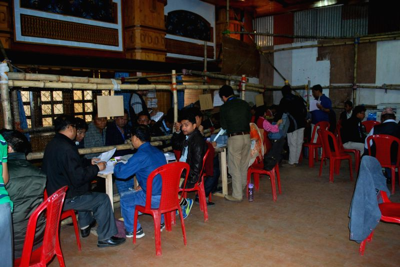 2014 Lok Sabha Election - Counting underway at a counting centre in Darjeeling on May 16, 2014.