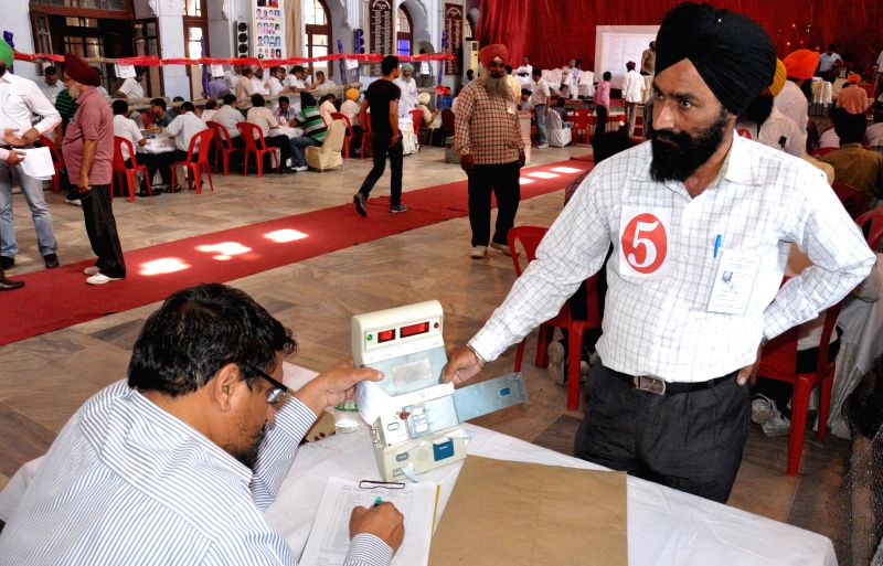 2014 Lok Sabha Election - Counting underway at a counting centre in Amritsar on May 16, 2014.