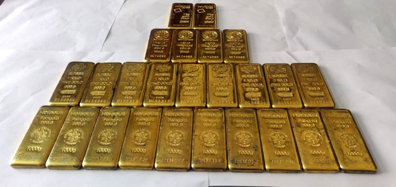 25 Kgs of smuggled gold from Guwahati siezed in Telangana
