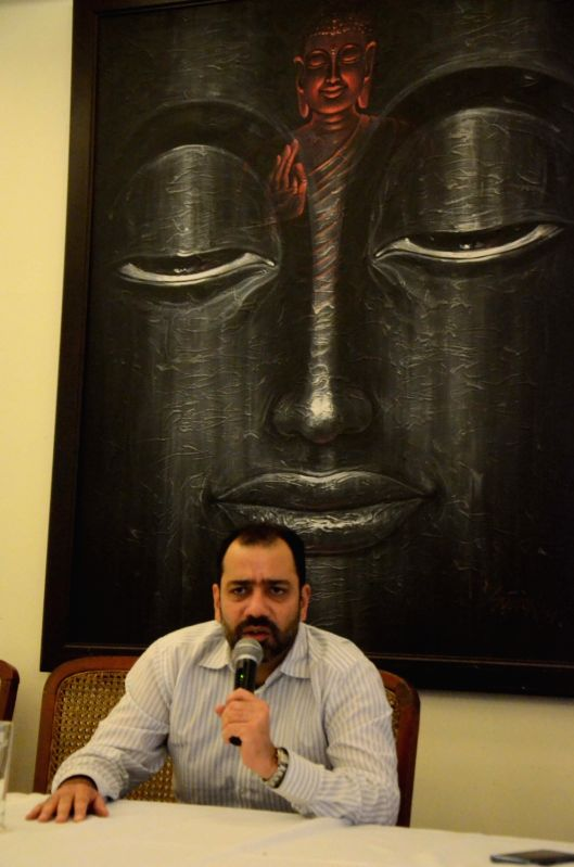 43rd Maharashtra State Men's Squash Tournament Director Sumeet Rewari addresses a press conference in Mumbai on Aug  3, 2018.