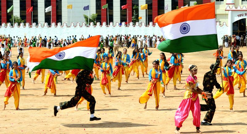 68th Independence Day celebrations at Manekshaw Parade Grounds in Bangalore on Aug 15, 2014.