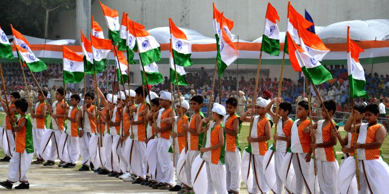 68th Independence Day celebrations underway in Amritsar on Aug 15, 2014.