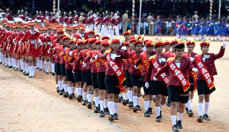 68th Independence Day Parade at Manekshaw Parade Grounds in Bangalore on Aug 15, 2014.