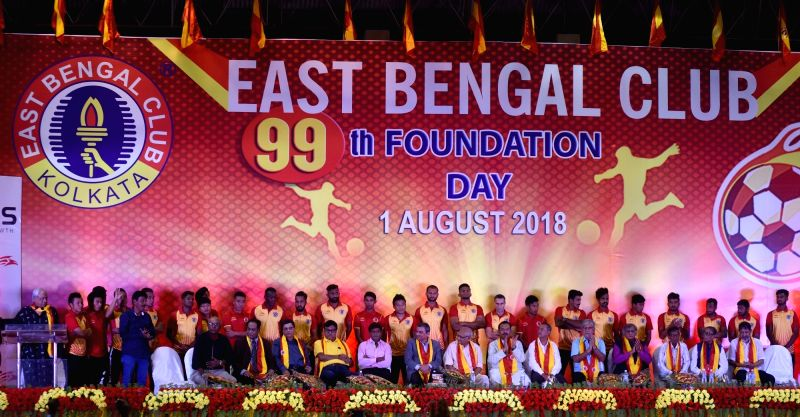 99th Foundation Day celebrations of East Bengal Football Club underway in Kolkata, on Aug 1, 2018.