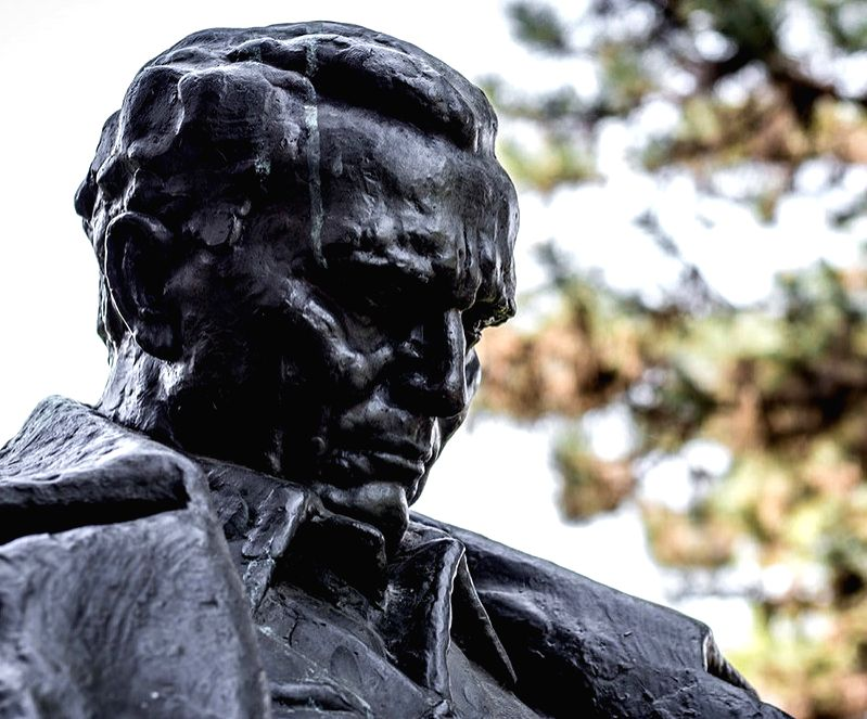 A bust of Tito in Belgrade.
