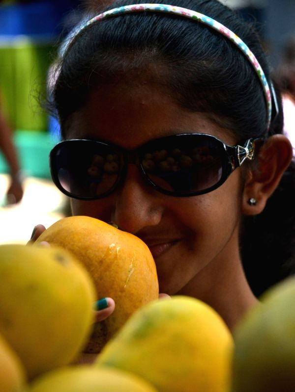 A child at the Mango and Jackfruit Mela 2016 in Bengaluru, on May 31, 2016.