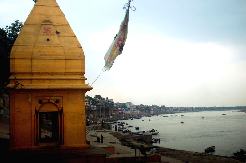 A cloudy day in Varanasi on June 17, 2014.