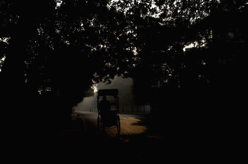 A cold Delhi morning.
