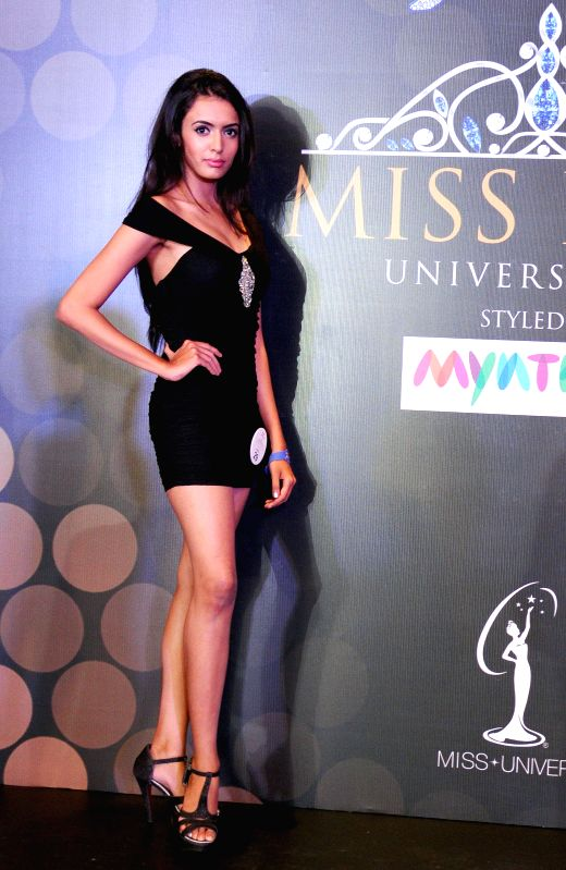 A contestant during auditions of Miss Diva Universe 2014  in Bangalore on Aug 21, 2014.