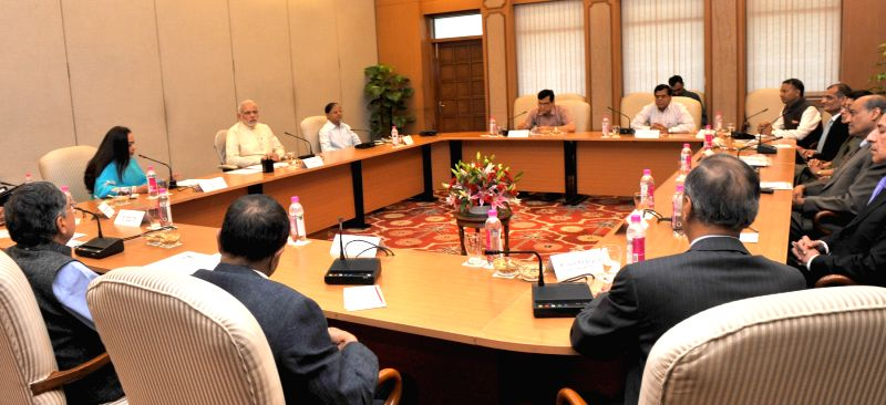 A delegation from the Federation of Indian Chambers of Commerce and Industry (FICCI) calls on the Prime Minister, Shri Narendra Modi, in New Delhi on June 30, 2015. - Shri Narendra Modi