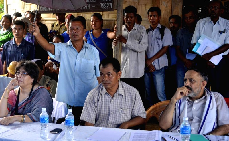 A delegation led by Additional Secretary of Ministry of Home Affairs (MHA) Ranjib Gauba visits Reang refugee camp in North Tripura's Kanchanpur to look at the living condition in the camp on Aug ...