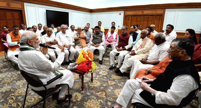 A delegation of OBC legislator's calls on Prime Minister Narendra Modi, in New Delhi, on Aug 7, 2018. - Narendra Modi