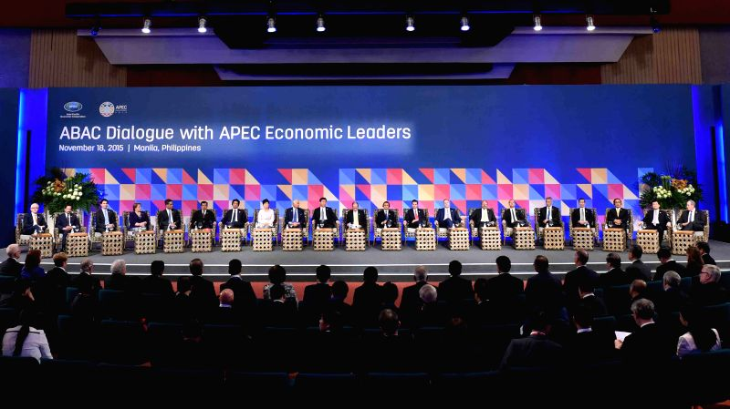 A dialogue between the Asia-Pacific Economic Cooperation (APEC) leaders and representatives of the APEC Business Advisory Council is held in Manila, capital of the ...