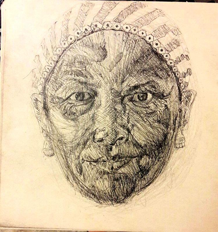 A drawing by Hoora Soleimani