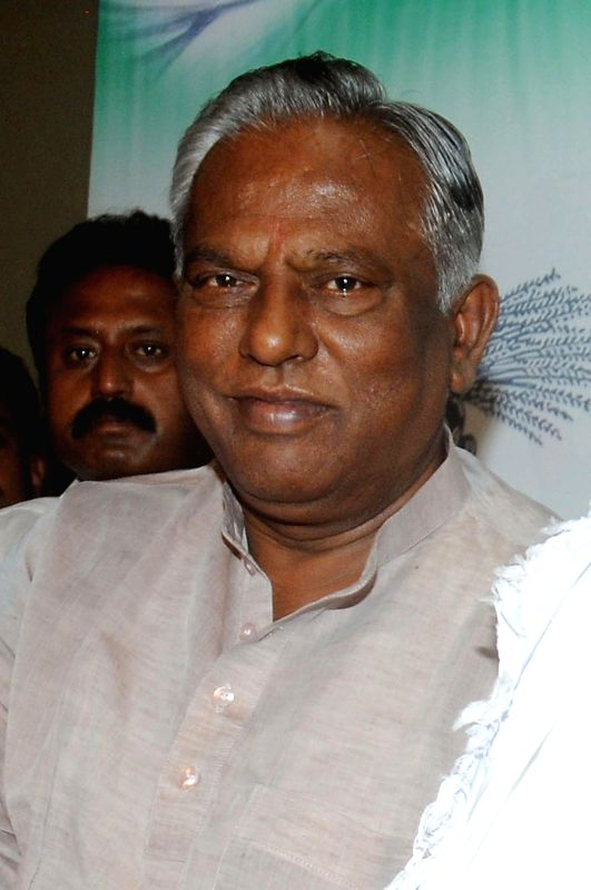 (A File Photo) JD(S) A Krishnappa, Karnataka JD (S) president who passed way following a heart-attack at his residence in Bangalore on April 23, 2014.