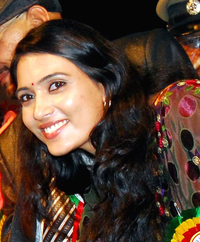 (A file photo) of Actress Mytriya Gowda who filed complaint of rape and cheating against Karthik Gowda son of Union Minister DV Sadananda Gowda, alleging that he had married her secretly, in ... - Mytriya Gowda