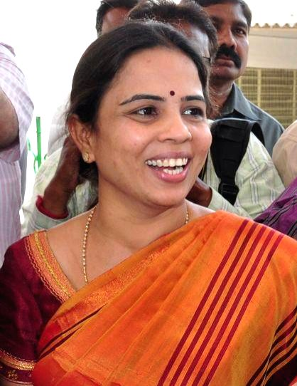 (A File Photo) YSR Congress Party leader Shobha Nagireddy who succumbed to the injuries sustained in a road accident en route to her native place Allagadda from Nandyal in Kurnool district of Andhra .