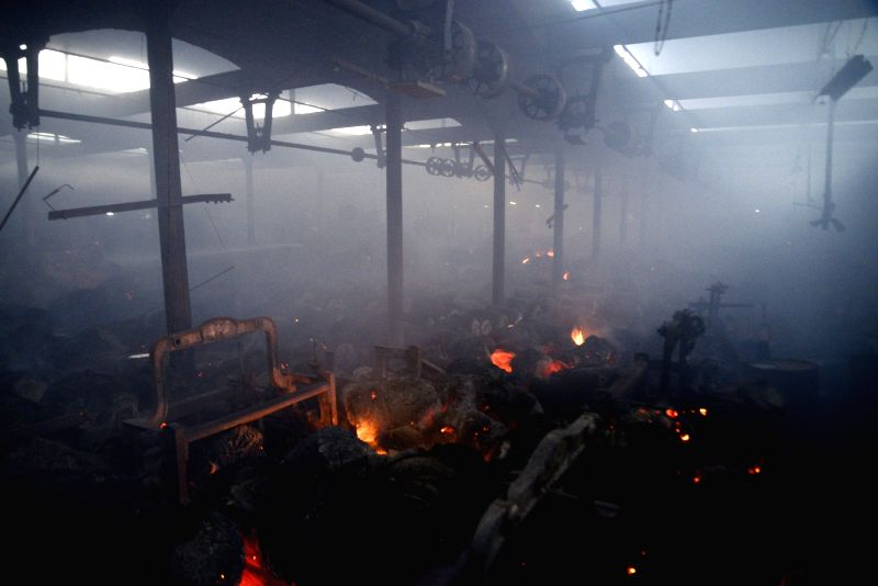 A fire broke out at Calcutta Jute Mill in Kolkata on Jan 30, 2018.