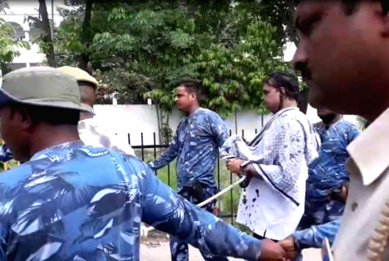 A group of women blackened the face of Brajesh Thakur, the main accused in the Bihar shelter home horror case, while he was coming out of a district court where he was produced in ...