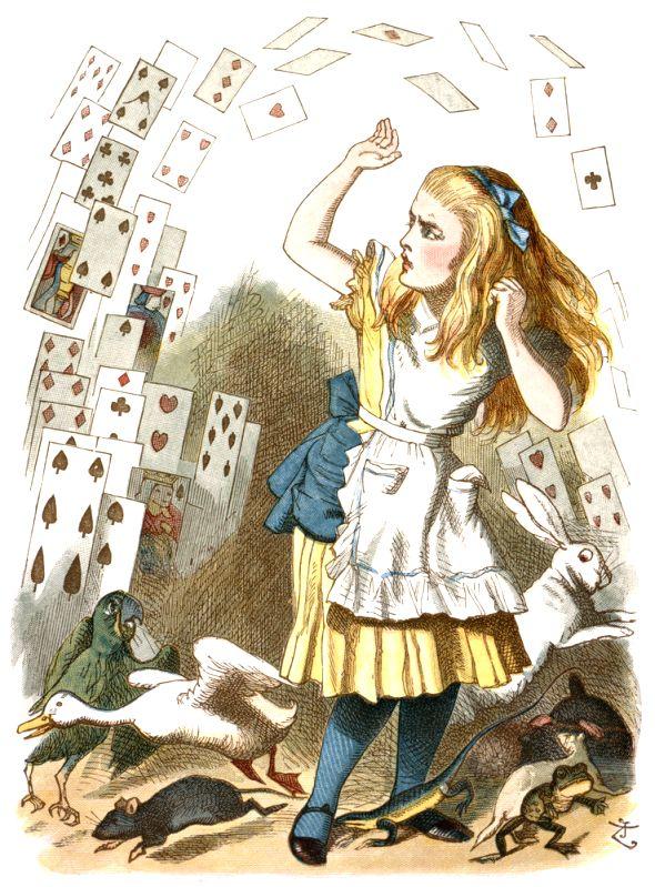 A illustration of the \'Alice\' of Wonderland