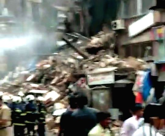 A labourer was killed when a fire-ravaged, dilapidated four-storied building was being demolished in south Mumbai on Friday, the BMC Disaster Control said.