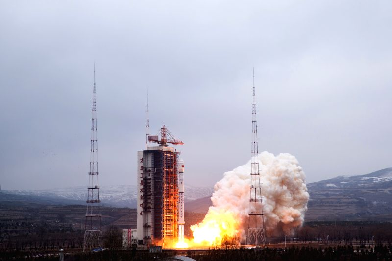 :A Long March-4B rocket carrying the Yaogan-28 remote sensing satellite blasts off at the Taiyuan Satellite Launch Center in Taiyuan, capital of north China's ...