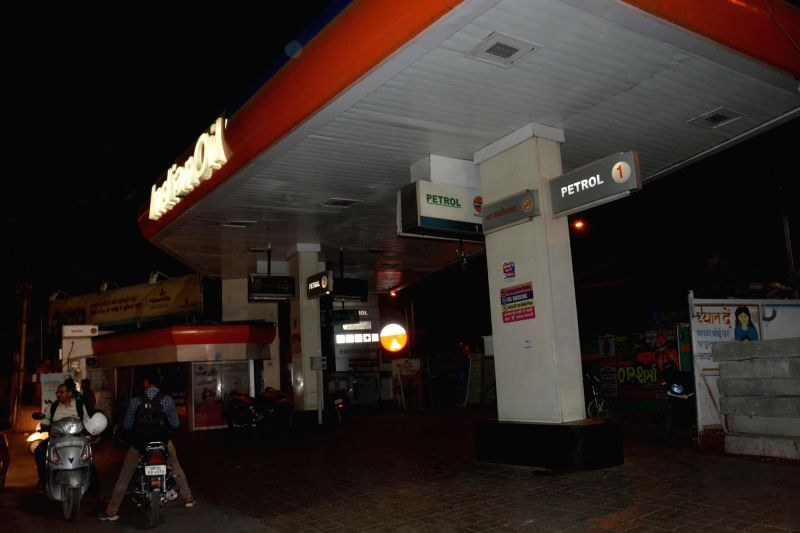 A Lucknow petrol pump wears a deserted look after petrol pump owners went on strike to protest against joint exercise by STF and oil companies to check tampering at fuel stations on May 1, ...