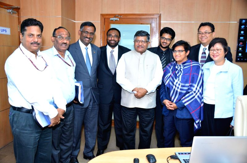 A Malaysian delegation led by Datuk Seri Azalina Othman Said calls on Union Minister Ravi Shankar Prasad in New Delhi, on May 4, 2017. - Ravi Shankar Prasad