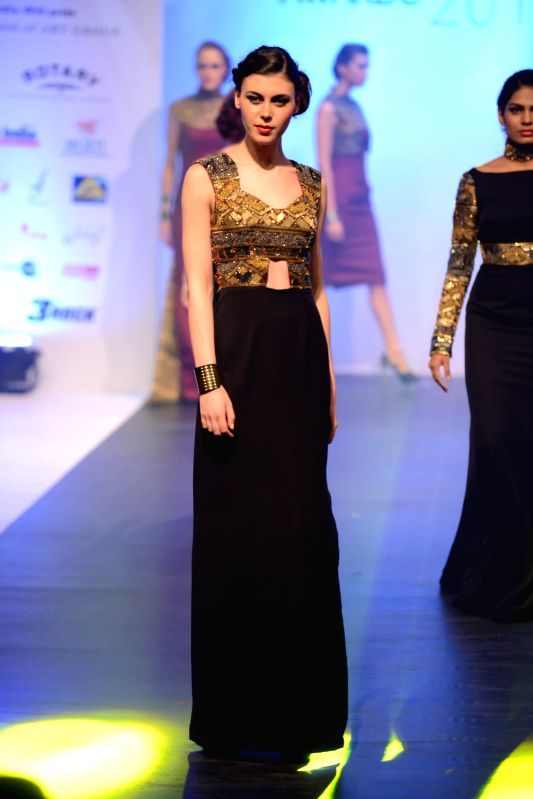 A model during INIFD Tassel Fashion & Lifestyle Awards 2014 in Mumbai on May 09, 2014.