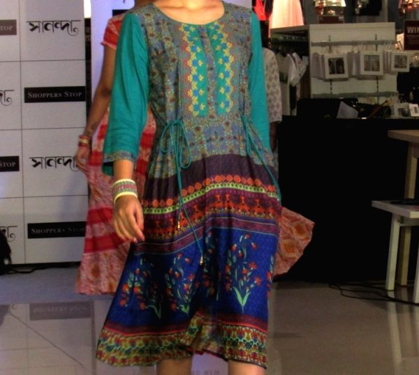 A model featuring Indian wear