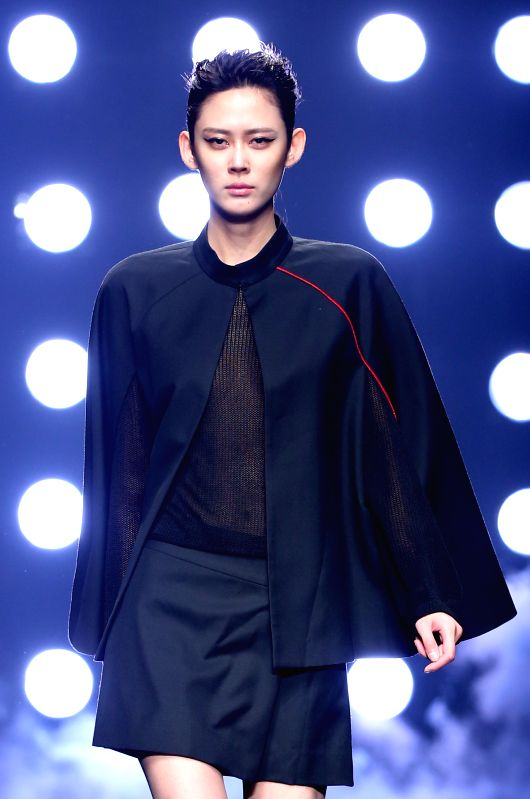 ... by Gioia Pan during the China Fashion Week in Beijing, capital
