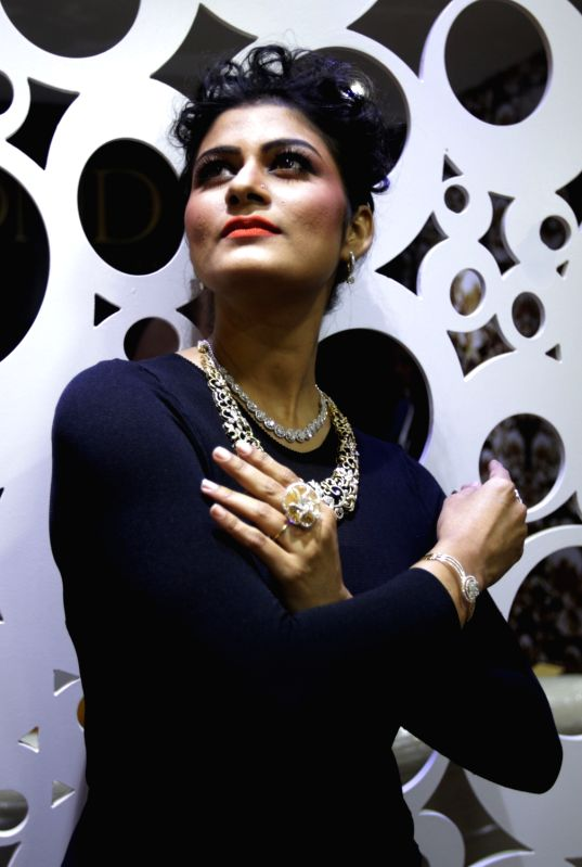 A model showcases Diamond Jewellary during  the 2nd edition of Sonar Sansar in Kolkata on Dec 4, 2015.