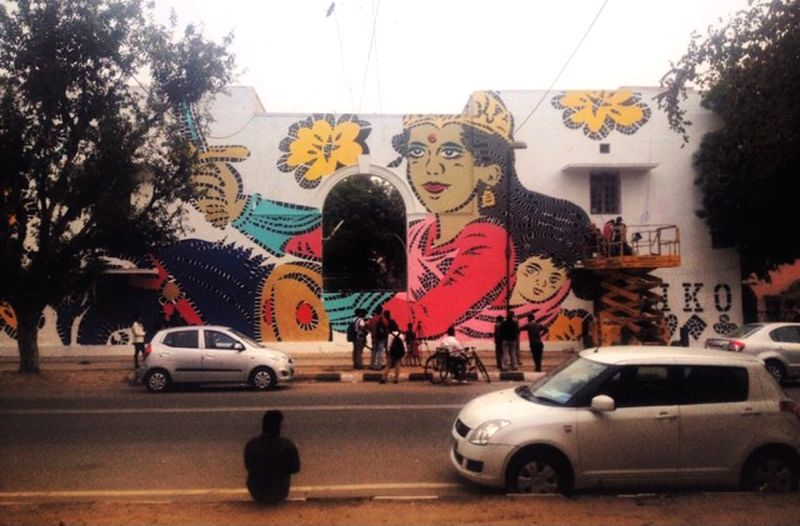 A mural by artist Lady Aiko. Pic courtersy: Akshat Nauriyal, St+Art Foundation