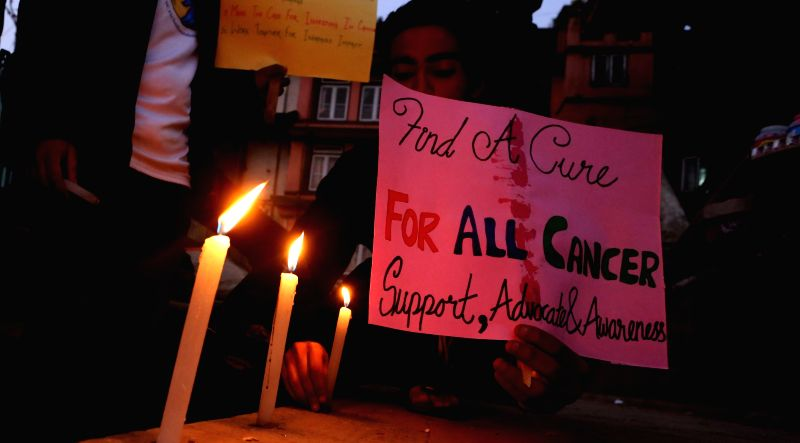 Candle light vigil for those who battled cancer