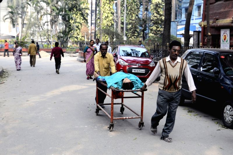 A patient being taken to be admitted at a hospital in Kolkata on Feb 1, 2018. With an emphasis on health besides agriculture and rural economy, infra and senior citizens in the Union Budget ... - Arun Jaitley