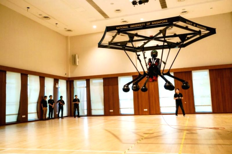 A personal flying machine by NUS students. (Photo: Courtesy, National University of Singapore)