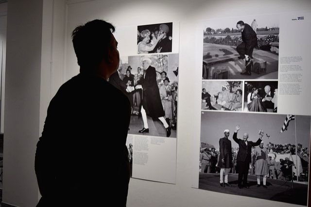 A photo exhibition organised at the American Center to mark 70 years of Indo-US relations. (Photo Courtesy: US Embassy)