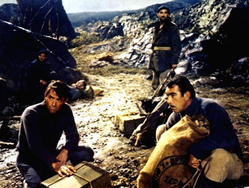 "A scene from the movie adaptation of Alistair MacLean\'s ""The Guns of Navarone\"""