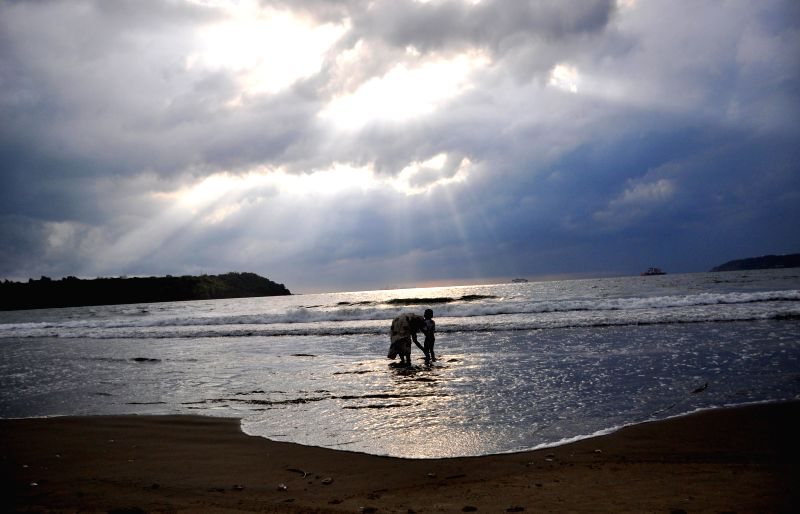 A scenic view of Caranzalem Beach in Panaji on May 7, 2014.