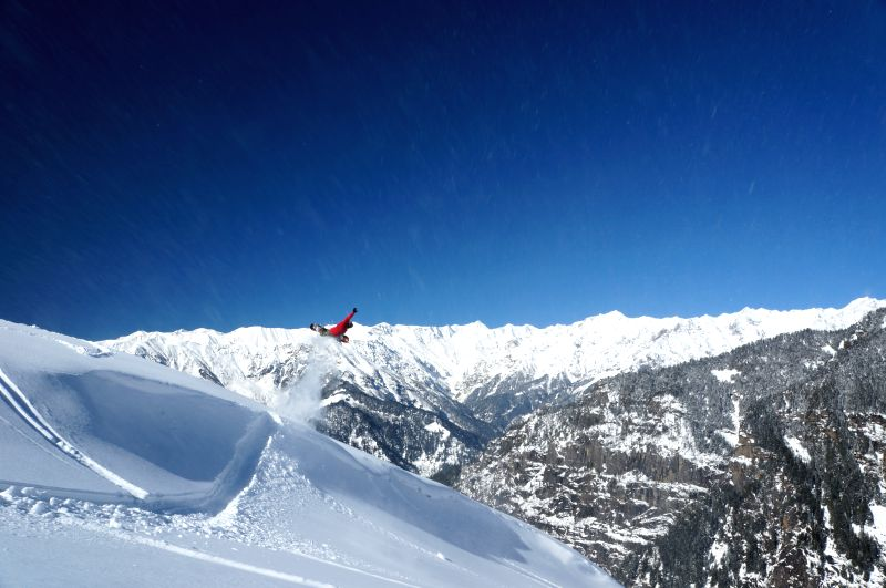 A skier at the pistes (marked ski runs) that are a 10-to-15
