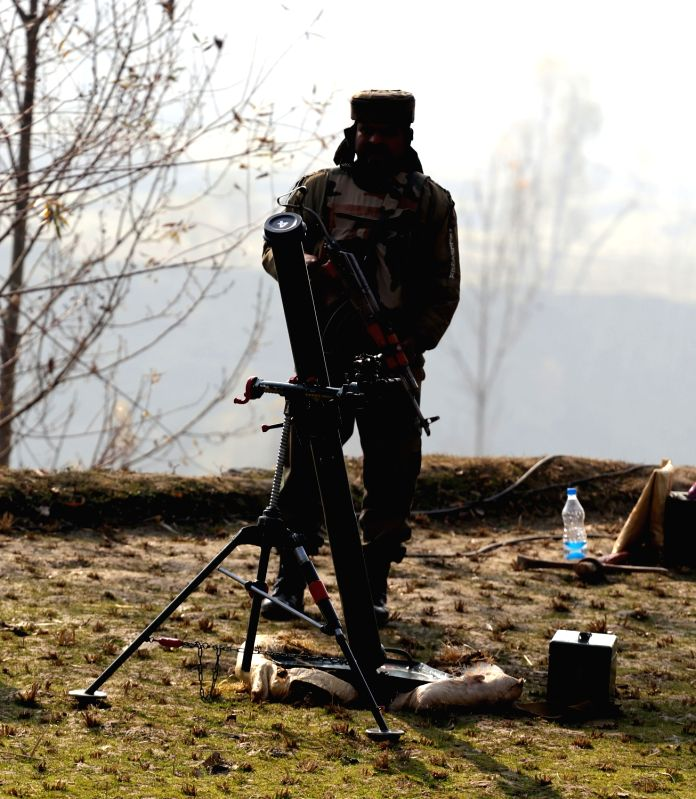 A soldier during an encounter with militants in Kupwara district of Jammu and Kashmir on Nov 23, 2015.