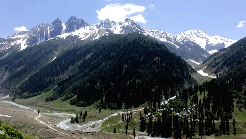 A spectacular view of Sonamarg - a hill station located in Ganderbal district of Jammu and Kashmir on June 29, 2014.