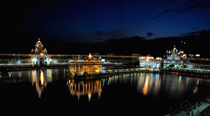 A spectacular view of the Golden Temple on Parkash Utsav of Sri Guru Granth Sahib (410th anniversary of installation of the Guru Granth Sahib) in Amritsar on Sept 1, 2014.