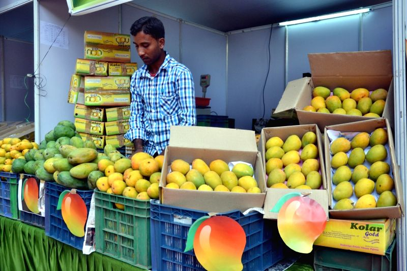 A stall at the Mango and Jackfruit Mela 2016 in Bengaluru, on May 31, 2016.