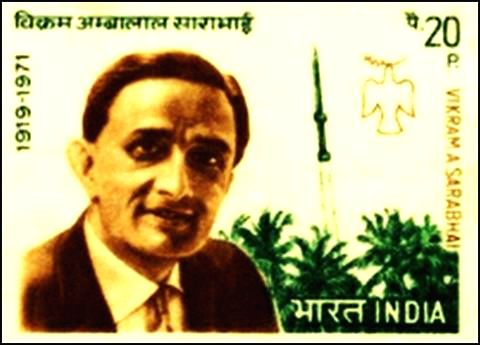 A stamp commemorating eminent scientist Vikram Sarabhai, deemed the father of the Indian space programme, but who made more contributions