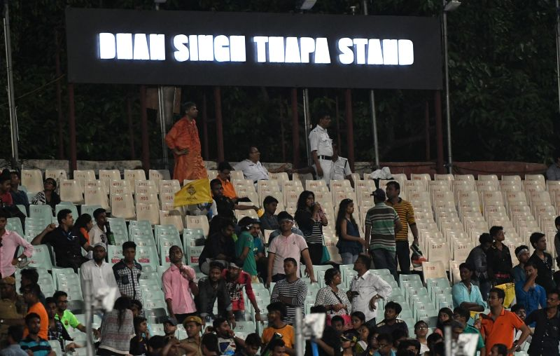 A stand named after martyr Dhan Singh Thapa at Eden Garden in Kolkata on April 28, 2017. - Dhan Singh Thapa